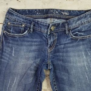 Express Jeans - Express Jeans Bootcut Whiskered Rodeo Flap Pockets